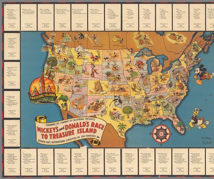 Mickey's and Donald's race to Treasure Island - David Rumsey