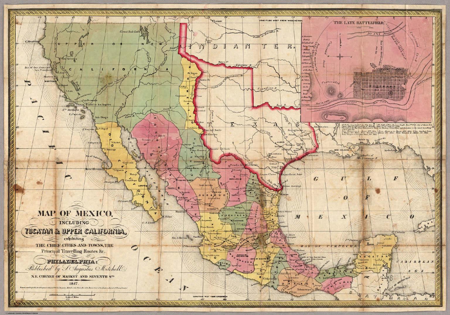 Map Of Mexico Including Yucatan Upper California David Rumsey