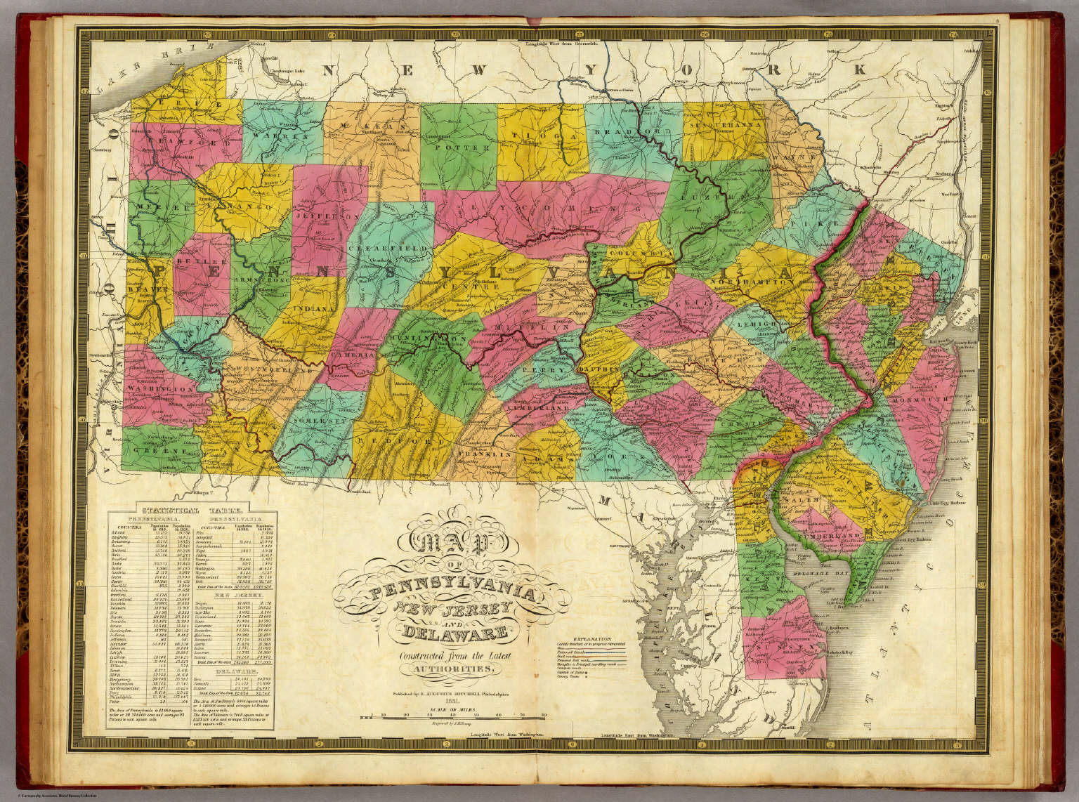 Map Of Pennsylvania New Jersey And Delaware Mitchell Samuel