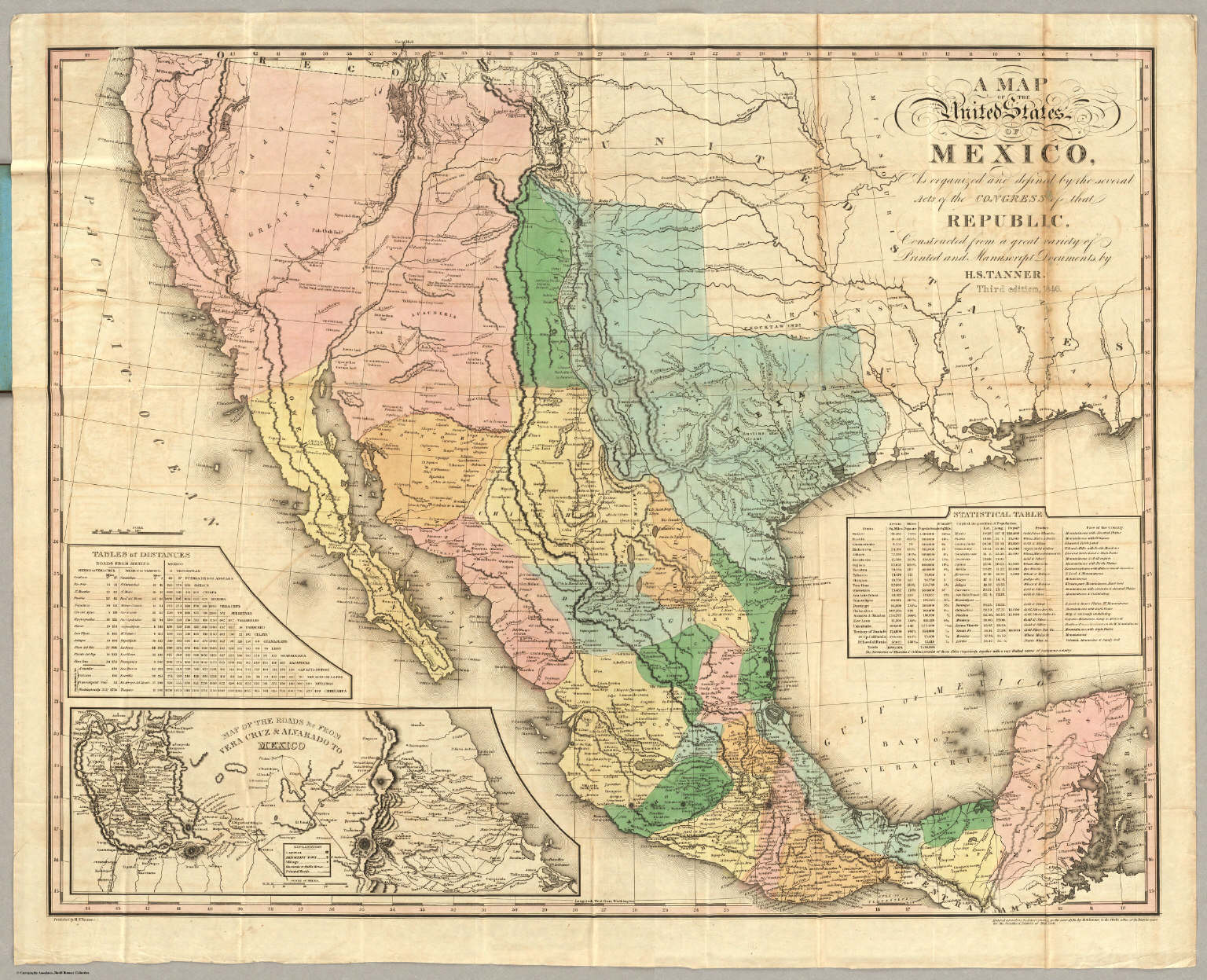 State Mexico Map.Map Of The United States Of Mexico David Rumsey Historical Map
