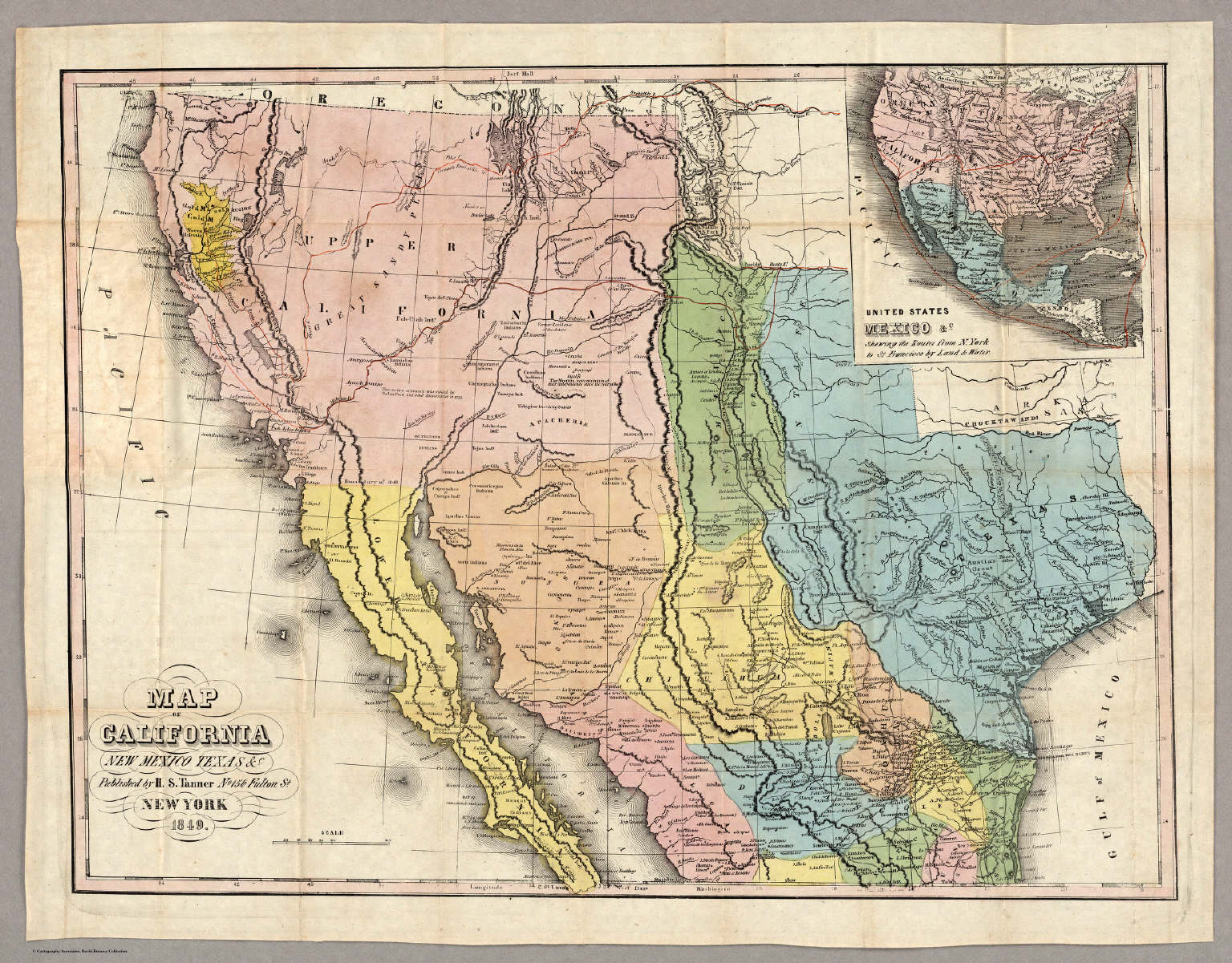 Map of California New Mexico Texas &c. - David Rumsey Historical Map ...