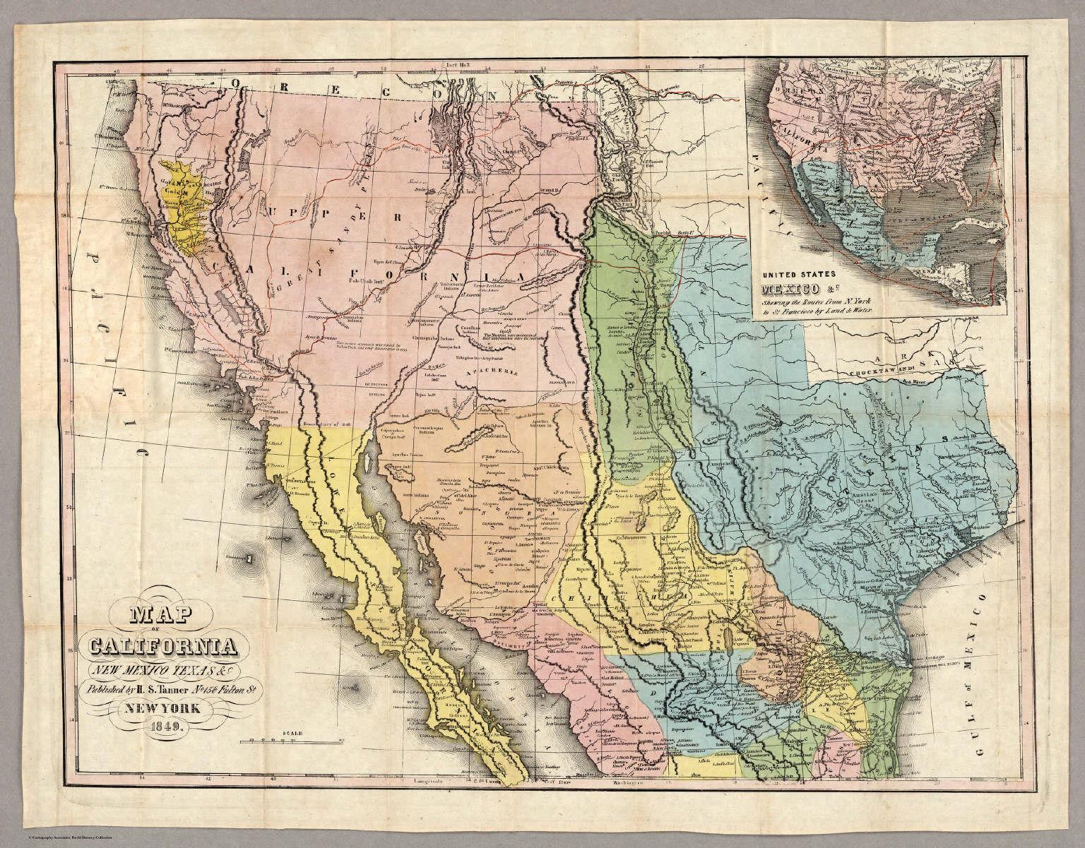 Map of California New Mexico Texas &c.