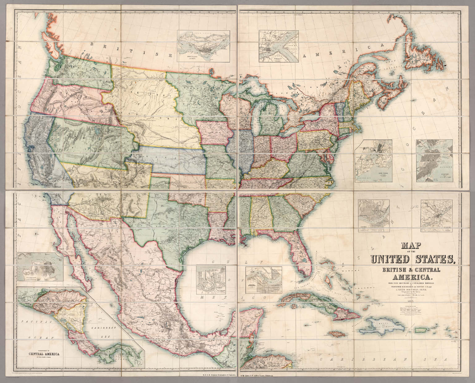 Map Of The United States British Central America David Rumsey