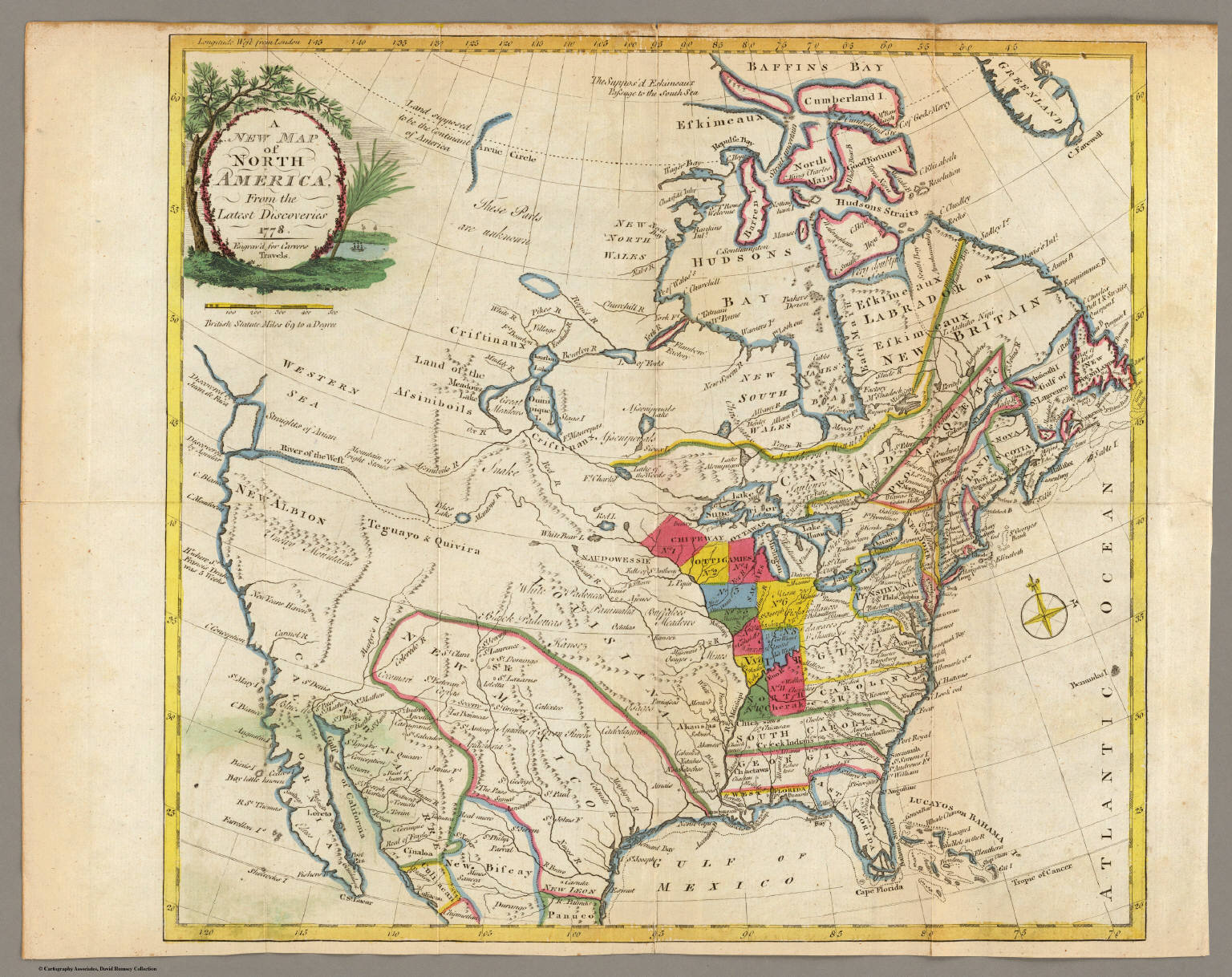 New Map Of North America David Rumsey Historical Map Collection