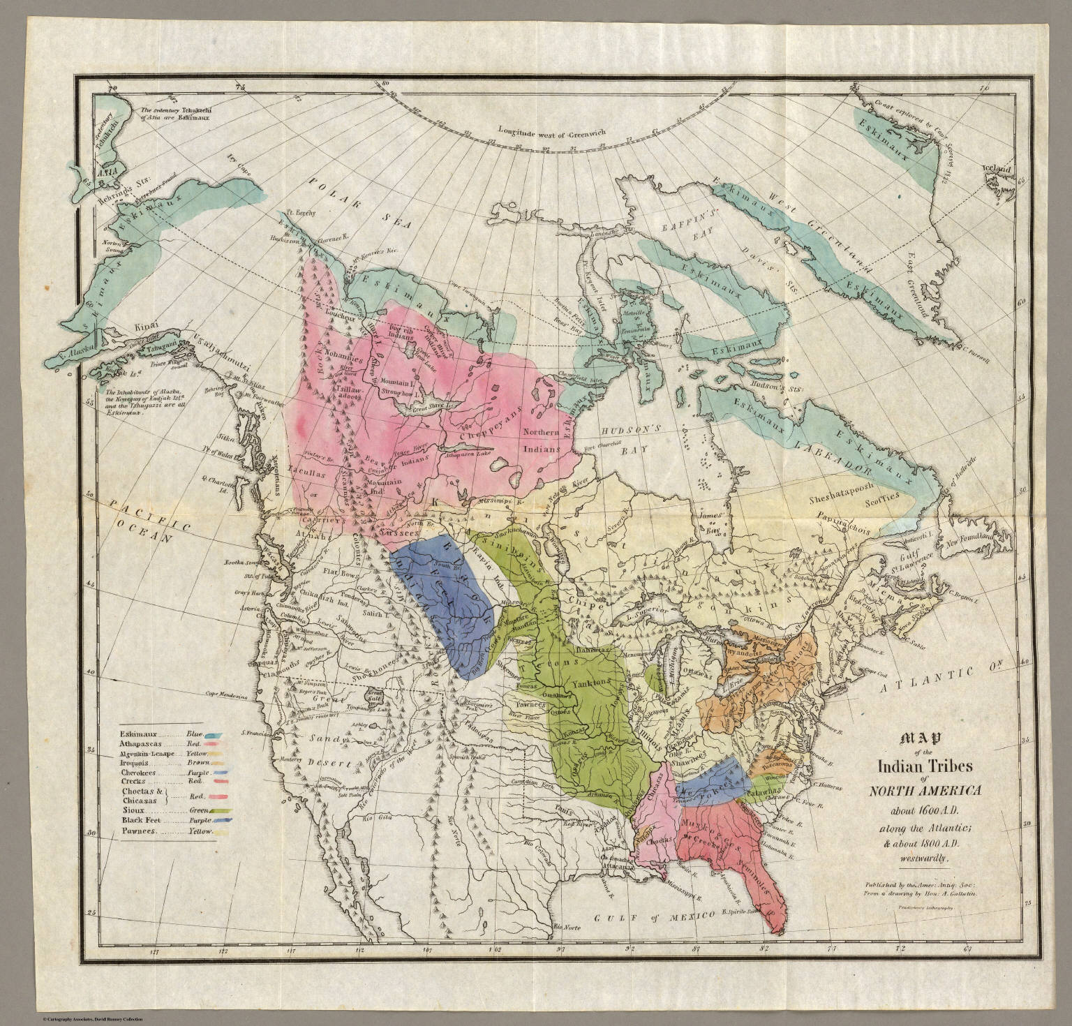 Map of the Indian Tribes of North America. - David Rumsey Historical ...