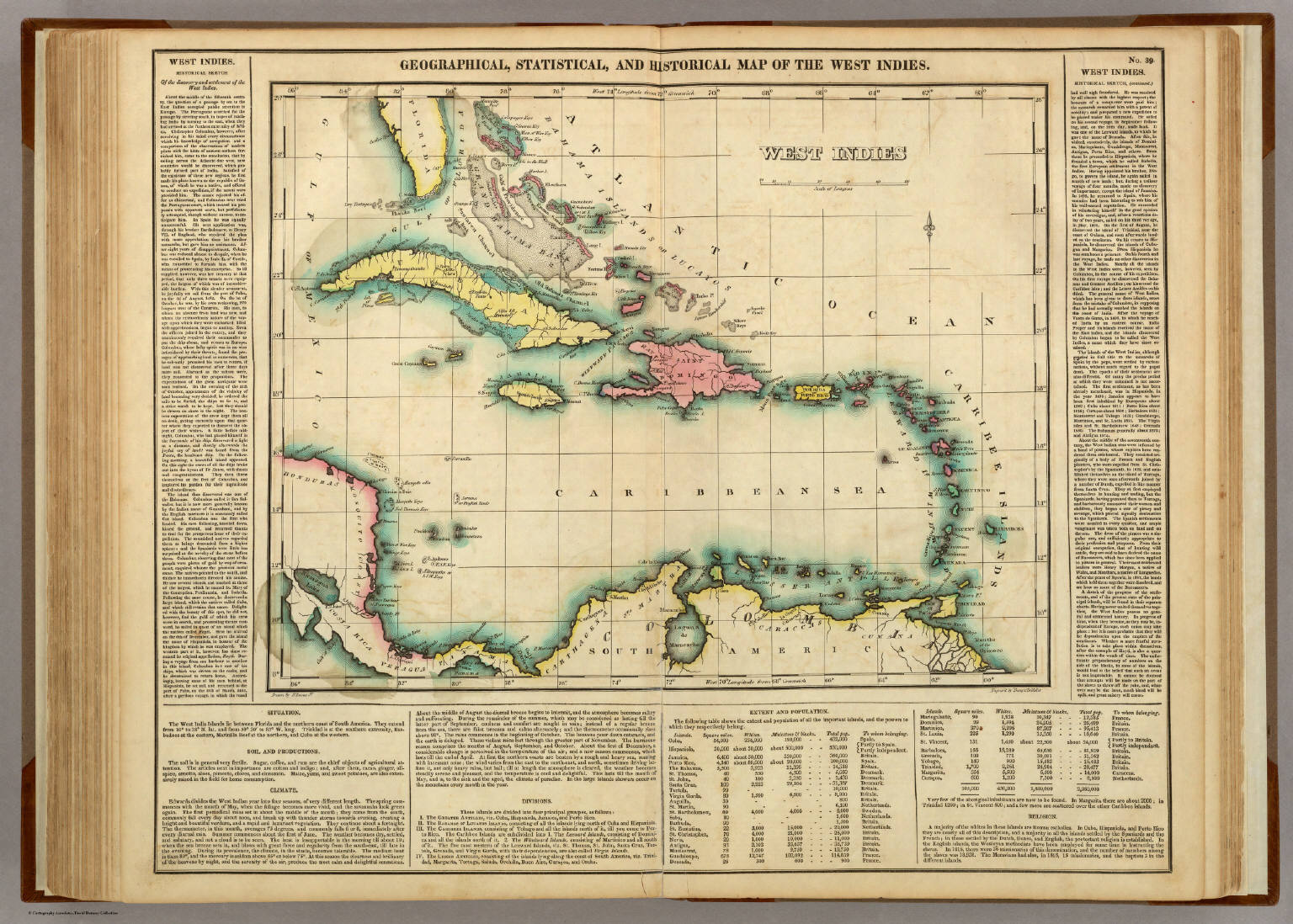 Map of the west indies david rumsey historical map collection map of the west indies gumiabroncs Image collections
