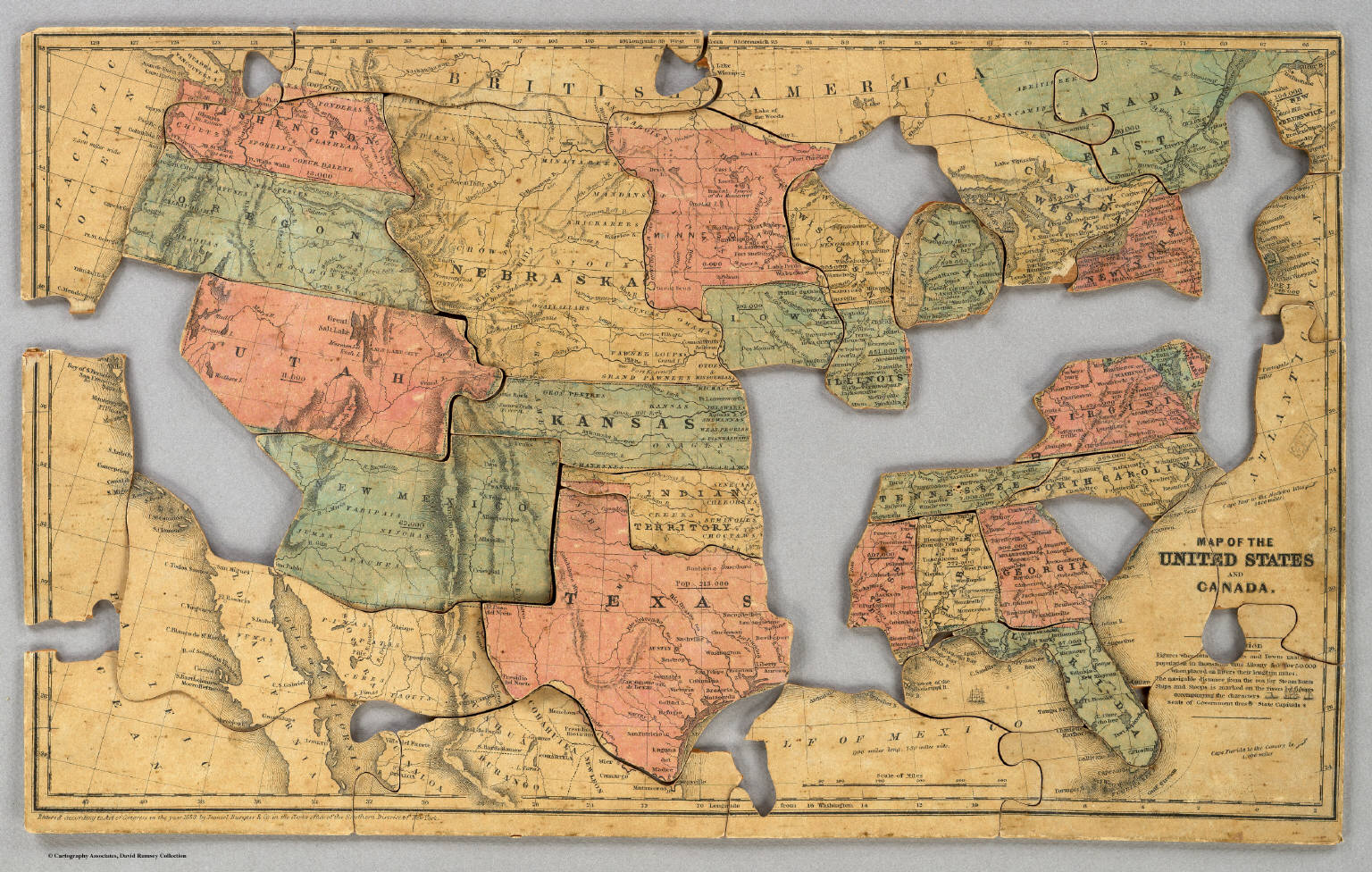 Map of the United States and Canada. - David Rumsey Historical Map ...