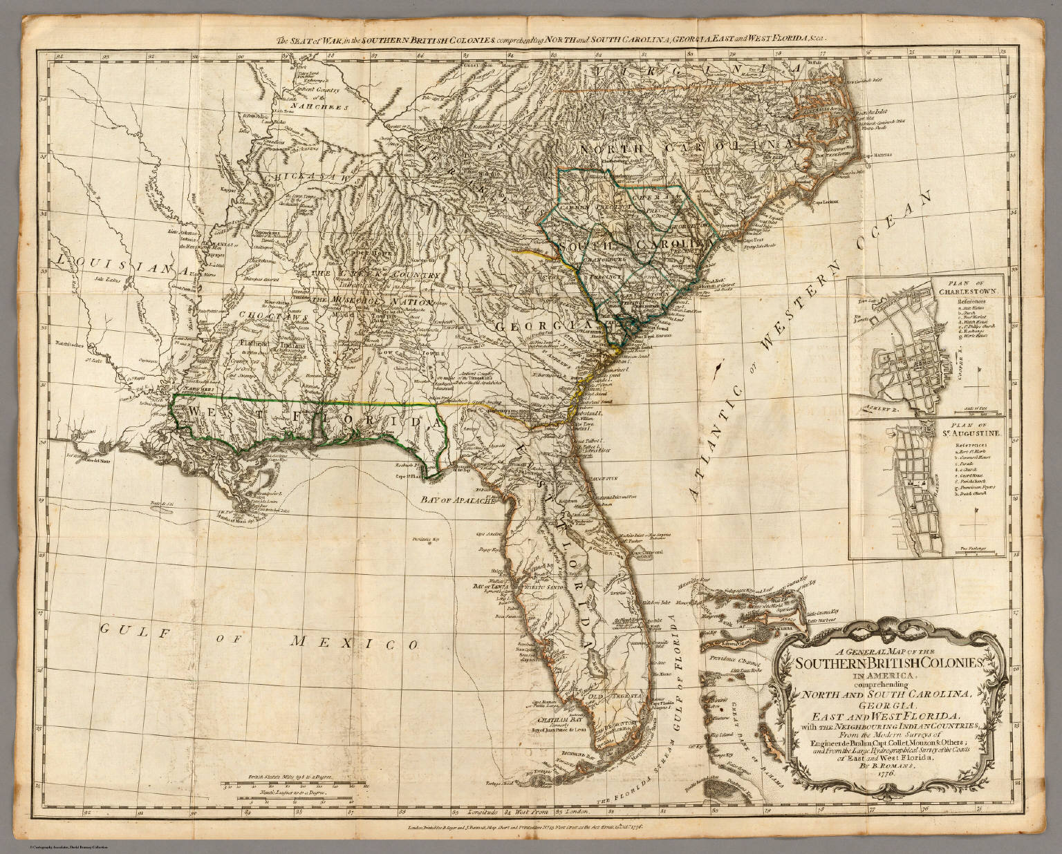 A General Map of the Southern British Colonies, in America. - David ...