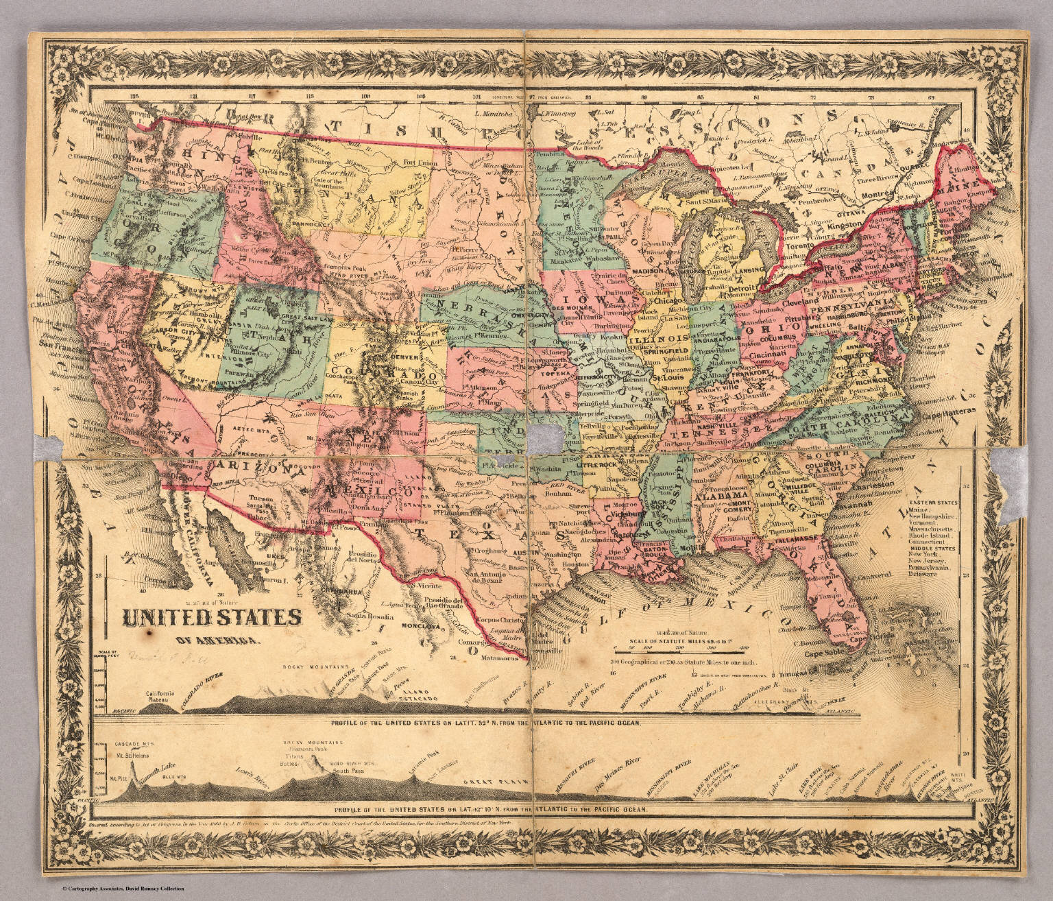 Index Map: United States of America. - David Rumsey Historical Map ...