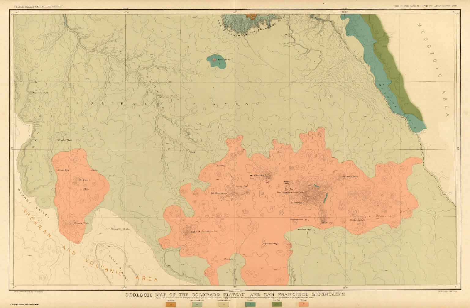 Geologic Map Of The Colorado Plateau And San Francisco Mountains ...