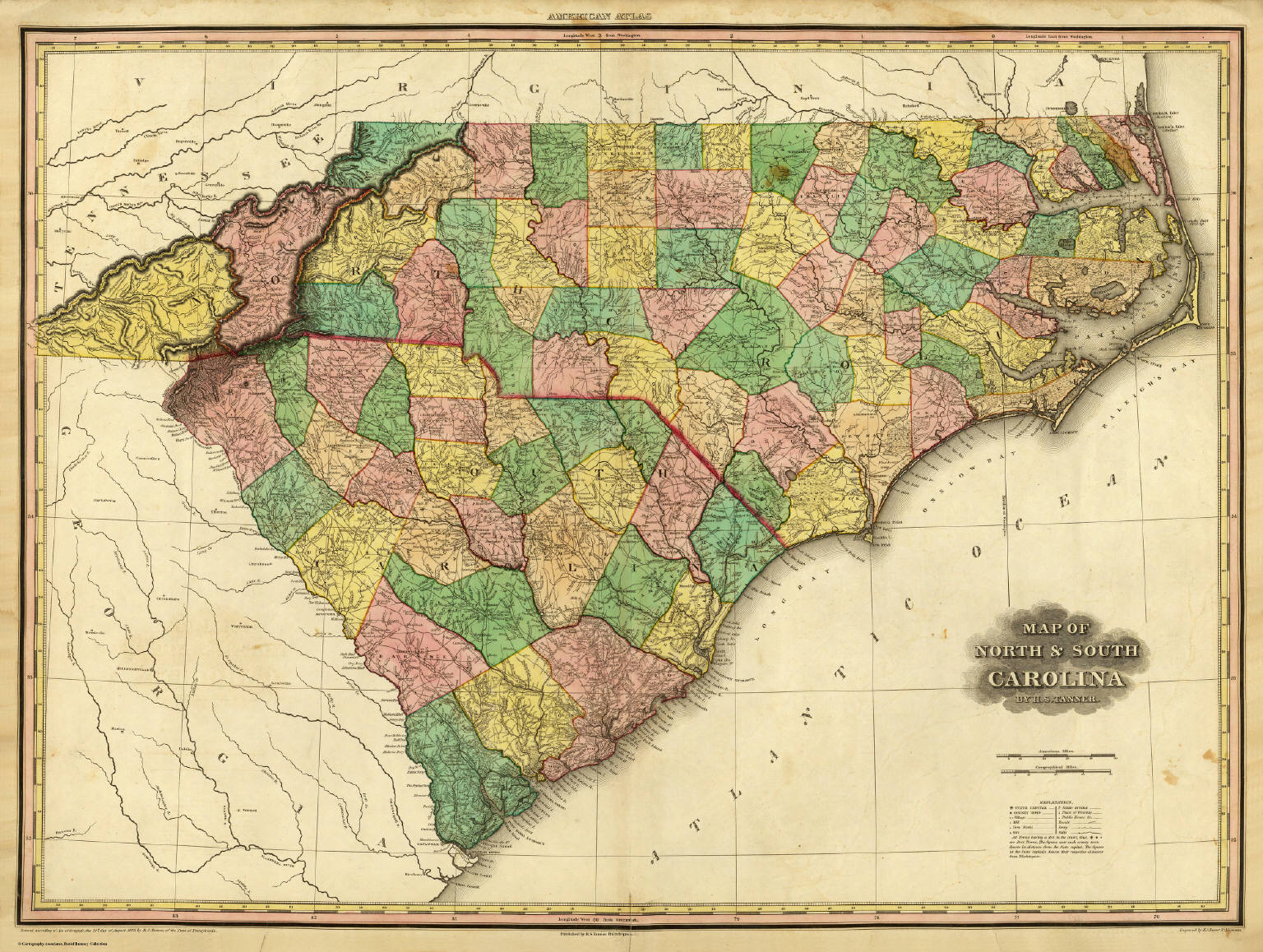 Map of North & South Carolina. - David Rumsey Historical Map Collection