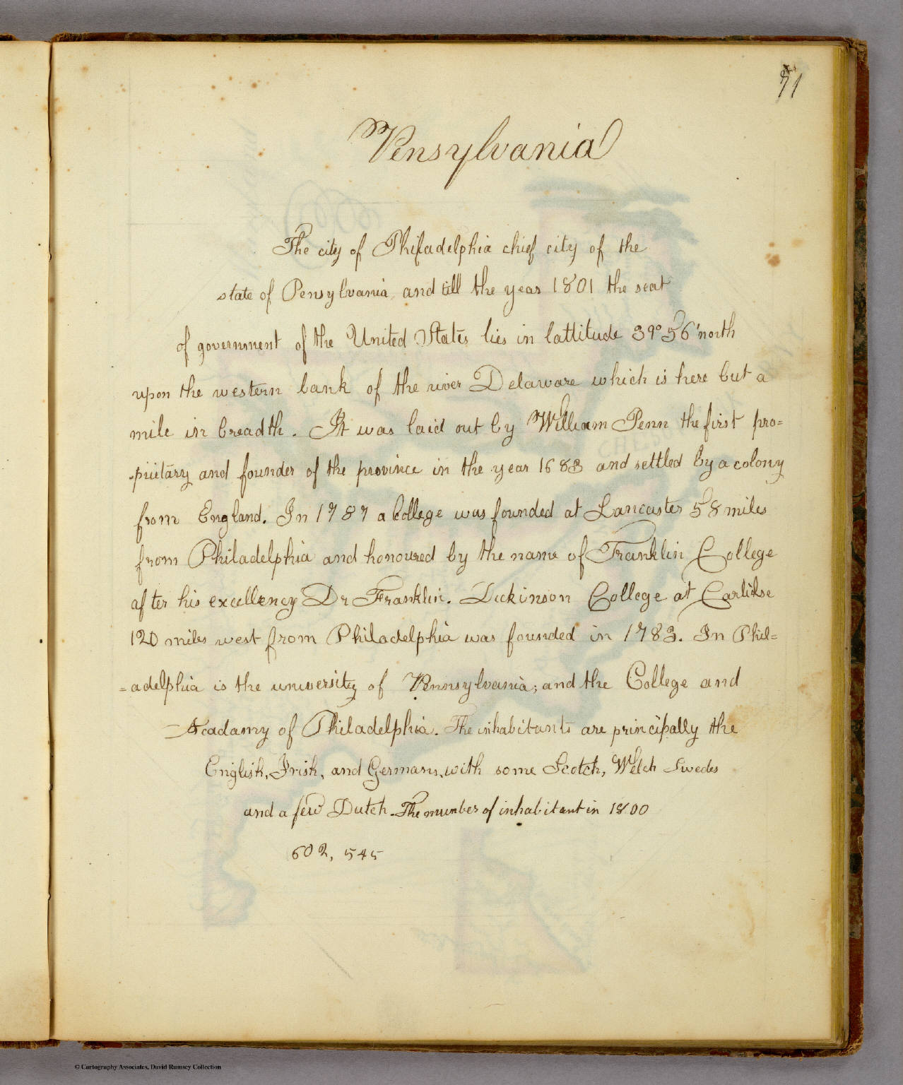 (Description of) Pensylvania.