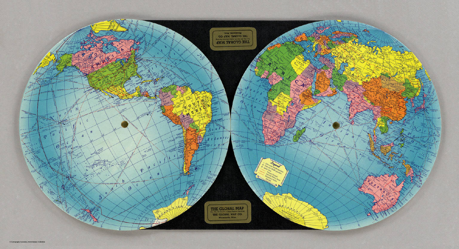 The Global Map. / Global Map Company / 1940