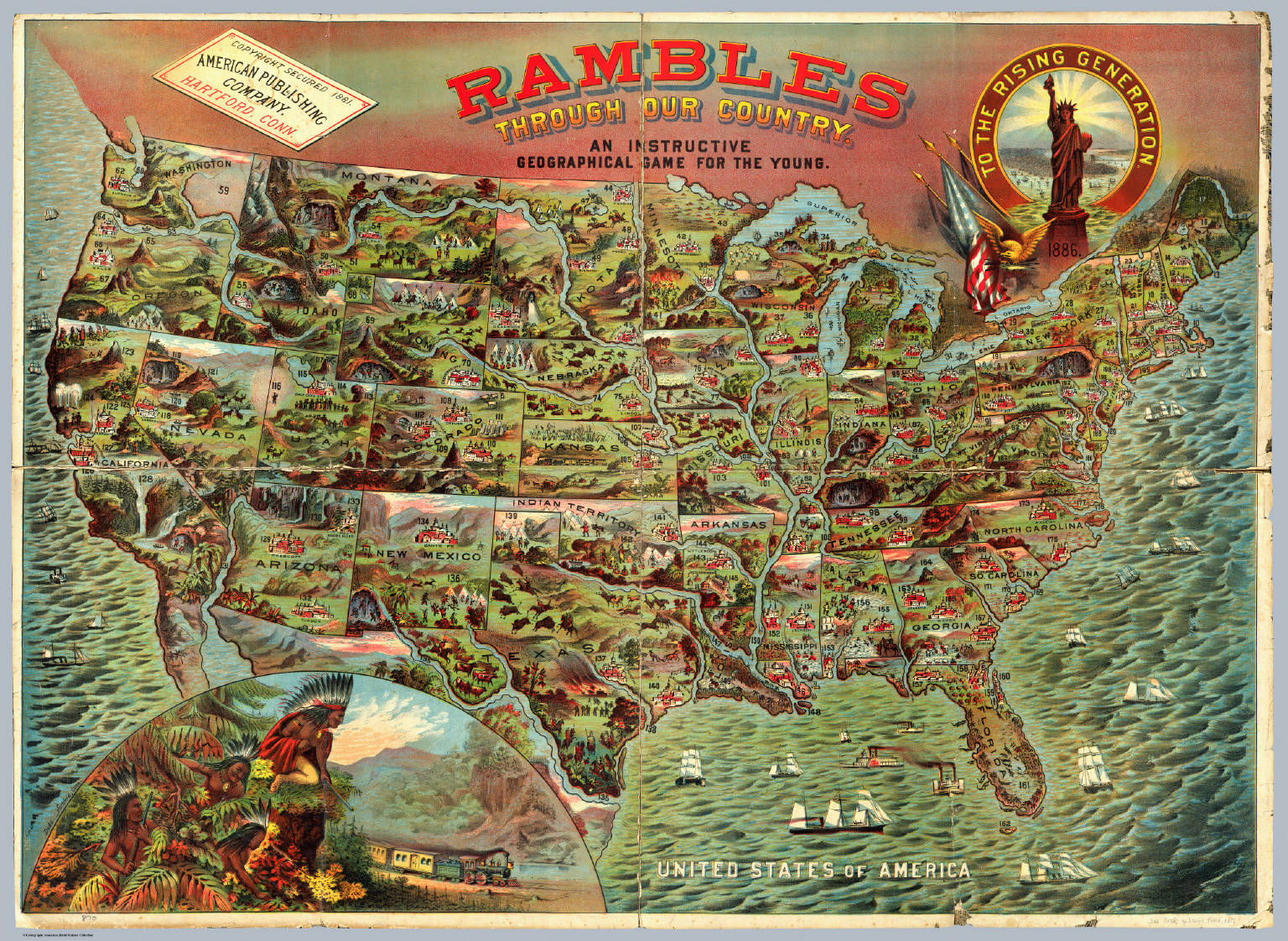 Rambles Through Our Country. - David Rumsey Historical Map Collection
