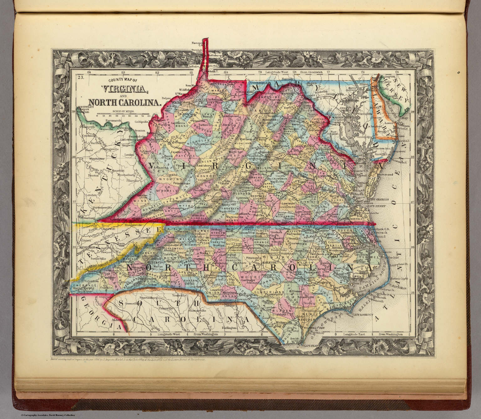 County Map Of Virginia, and North Carolina. - David Rumsey ... on map of indiana showing counties, blank map of mexican states, eastern virginia counties, virginia beach counties, blank outline of west virginia, old map of tennessee counties, blank map of provinces in china, blank map of south carolina regions, interactive map virginia counties, blank map of georgia rivers, sc counties, blank outline map of georgia, maryland county map of counties, kansas city counties, va state map with counties, virginia state map showing counties, blank map southeast united states, state of indiana counties, blank va map, blank county map,
