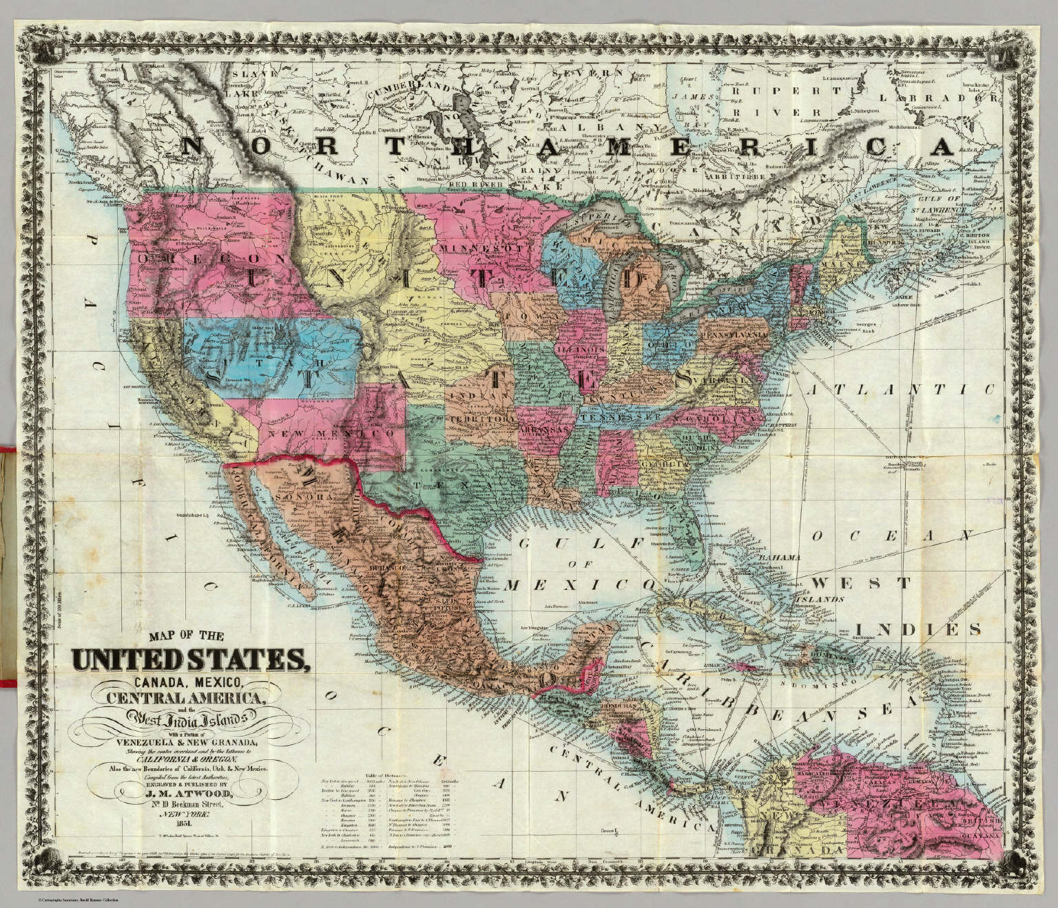 map of the united states canada mexico central america and the west india islands david rumsey historical map collection