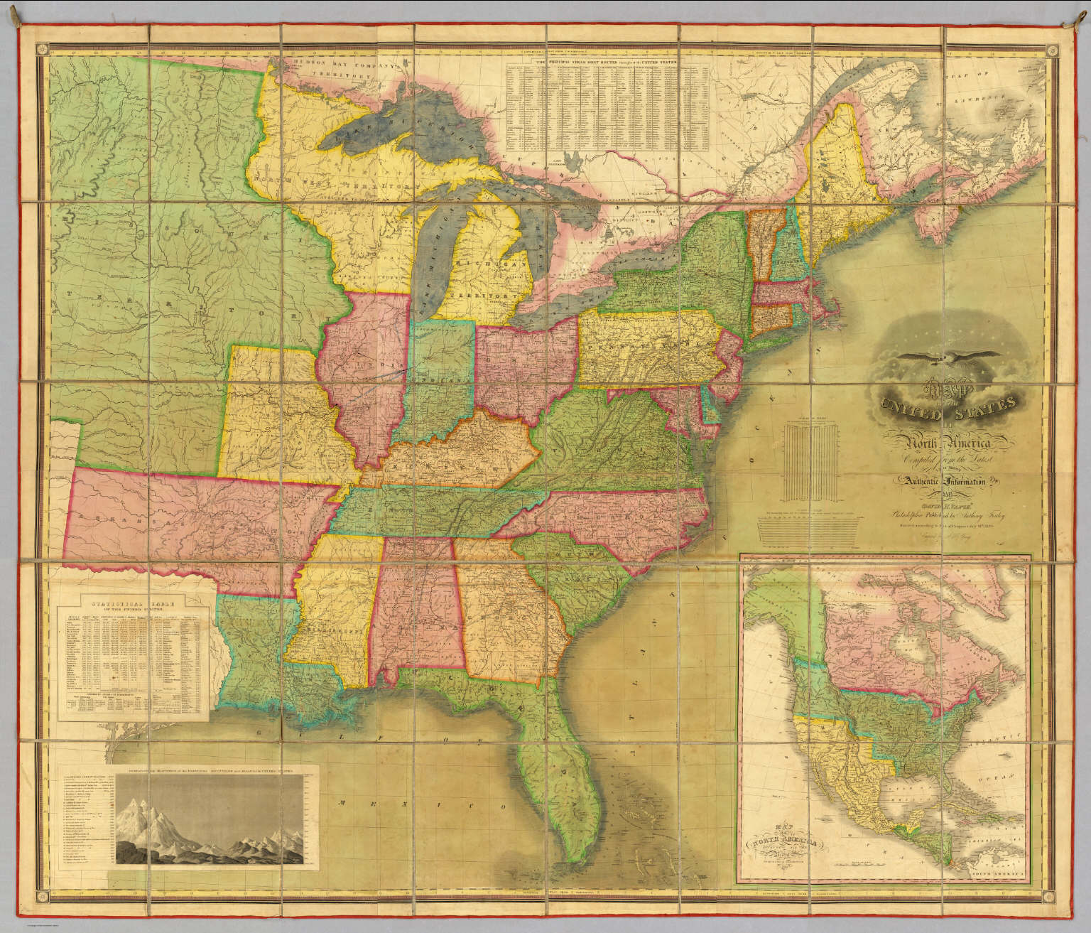 Map of the United States Of North America. / Vance, David H. ; Finley,  Anthony / 1825