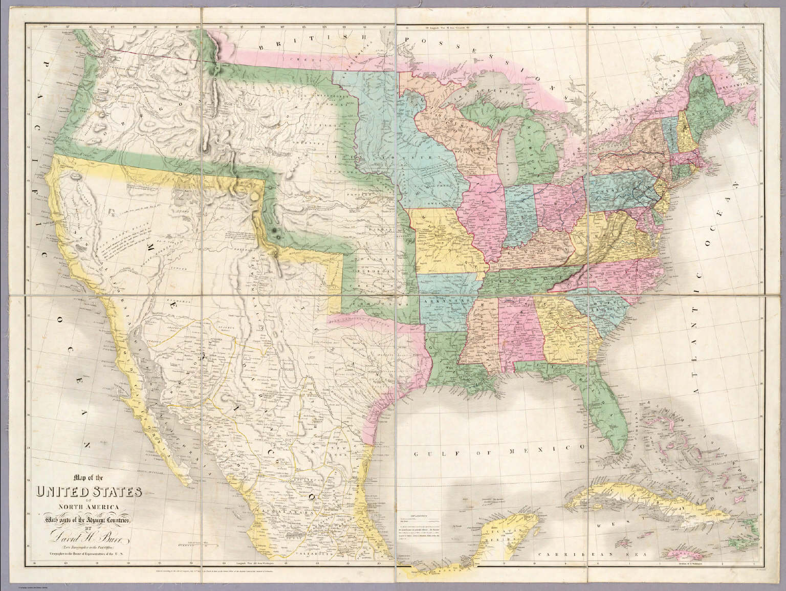 Map Of The United States Of North America Burr David H 1803