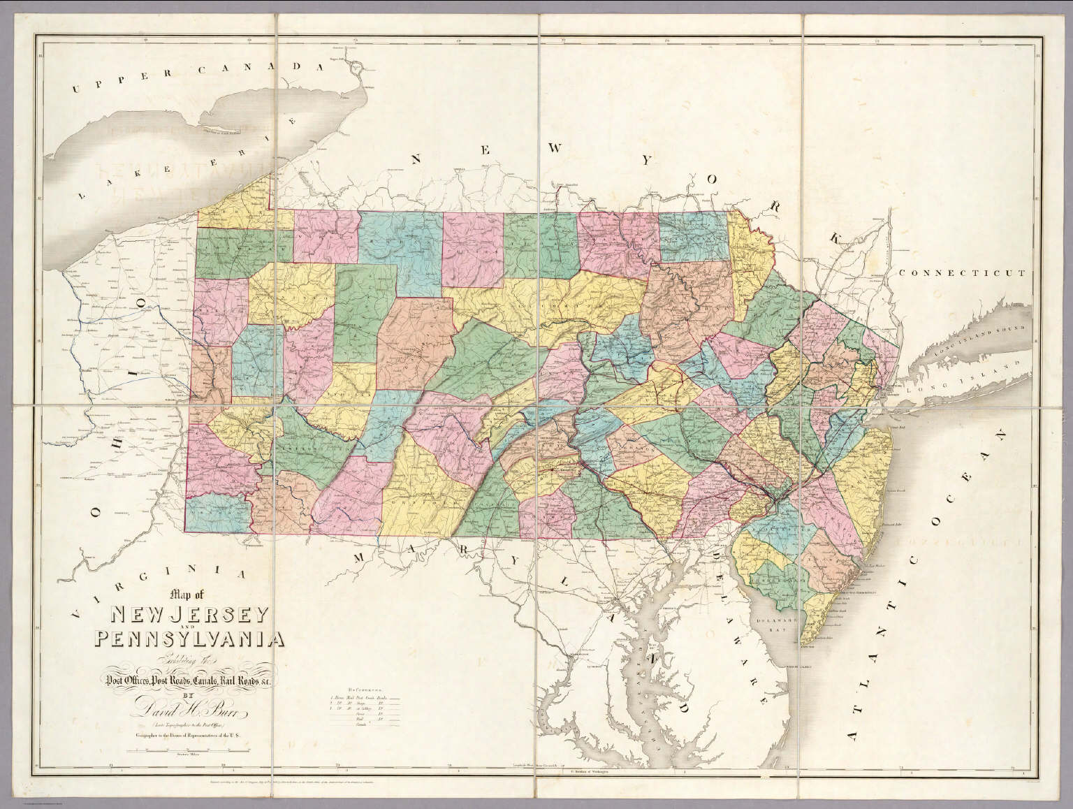Map of New Jersey And Pennsylvania. - David Rumsey Historical Map ...