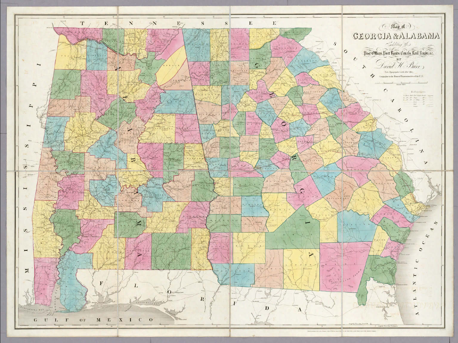 Map of Georgia & Alabama. / Burr, David H., 1803-1875 / 1839
