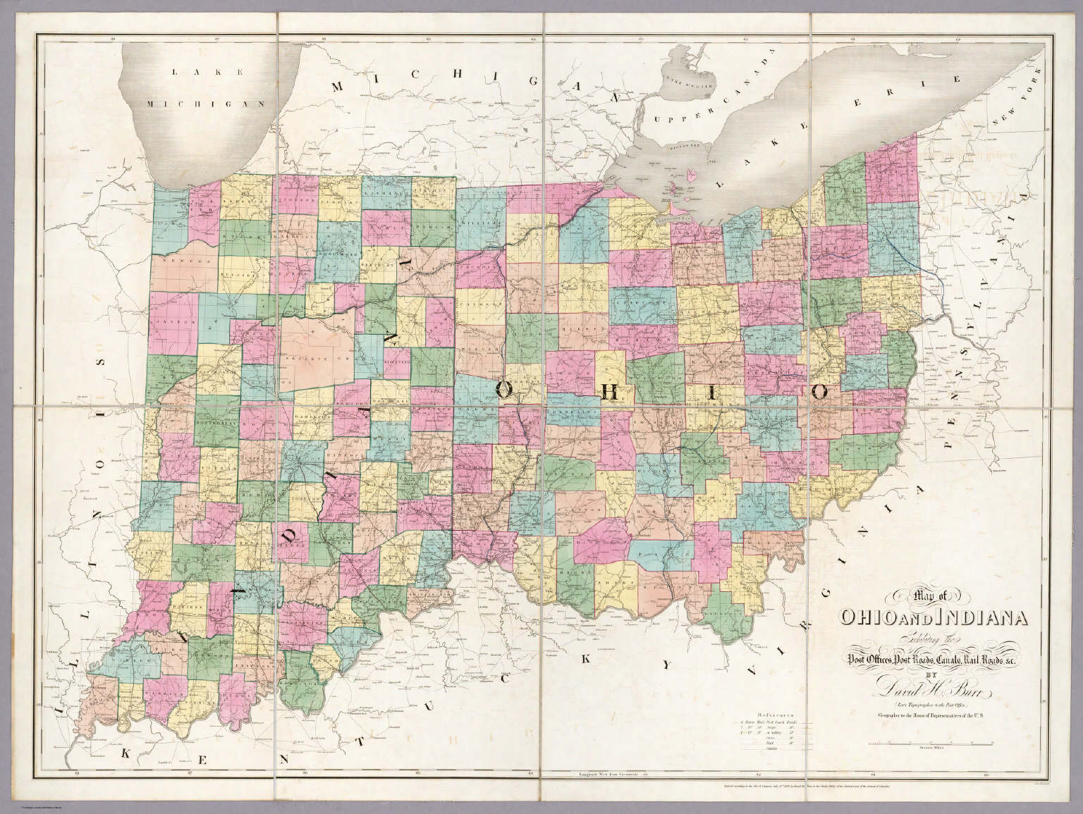 Map Of Indiana And Ohio Map of Ohio And Indiana.   David Rumsey Historical Map Collection Map Of Indiana And Ohio