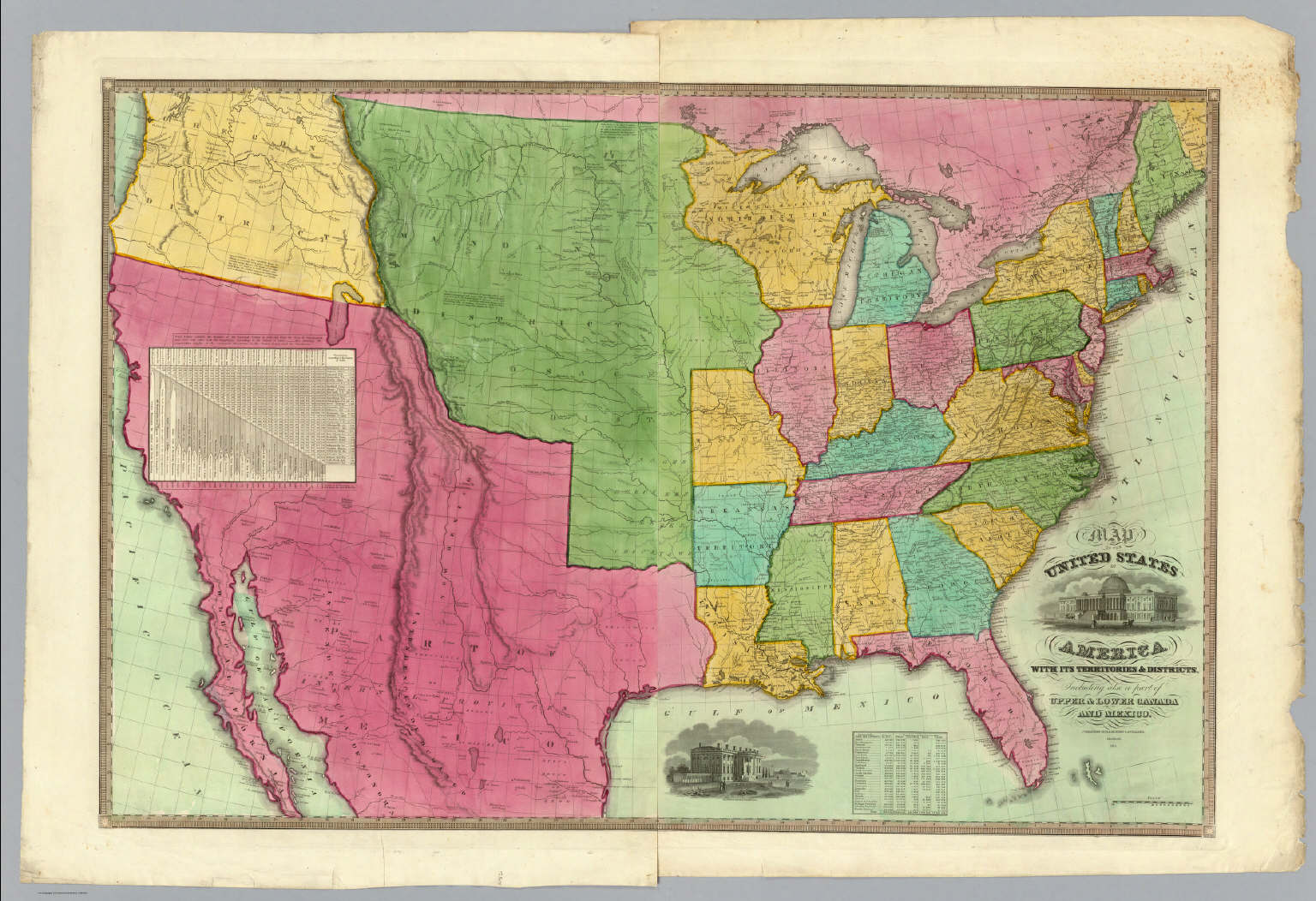 America Map Of States.Map Of The United States Of America Barber B B Willard A 1835