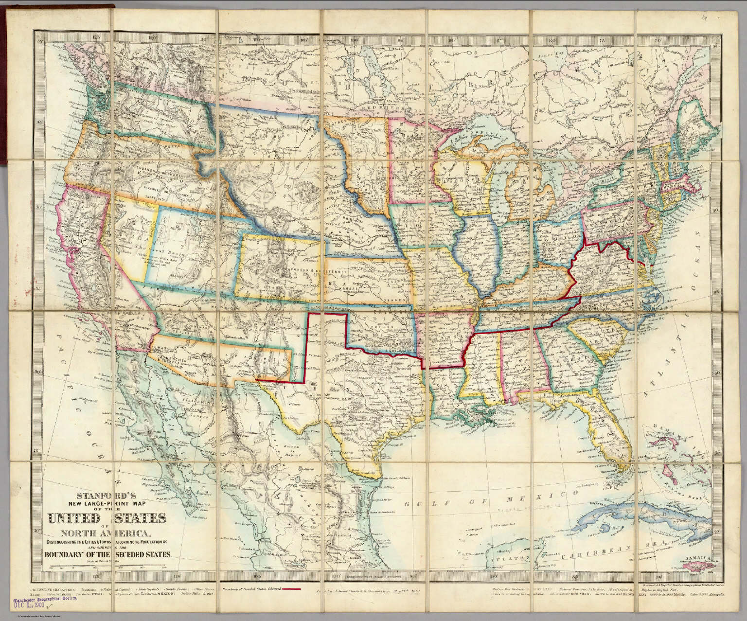 United States Of North America. - David Rumsey Historical Map Collection