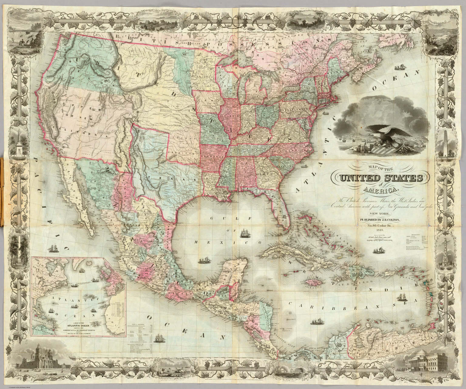 Picture of: Map Of The United States Of America David Rumsey Historical Map Collection