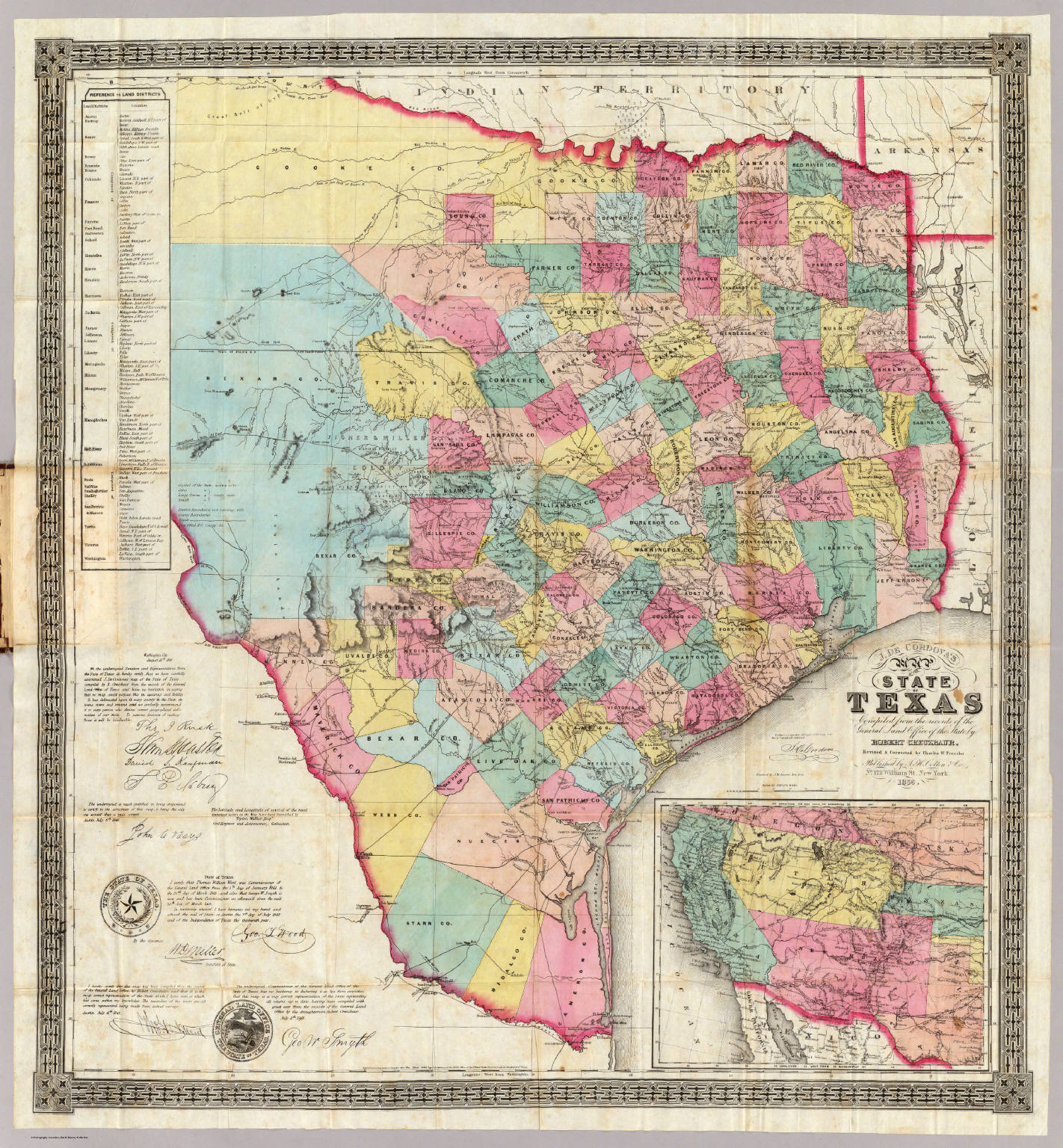 J De Cordovas Map Of The State Of Texas David Rumsey - State of texas map