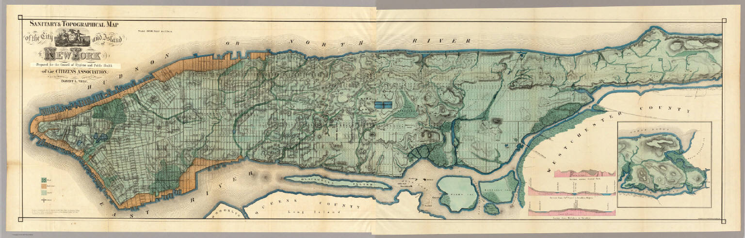 Sanitary & Topographical Map of the City and Island of New York.