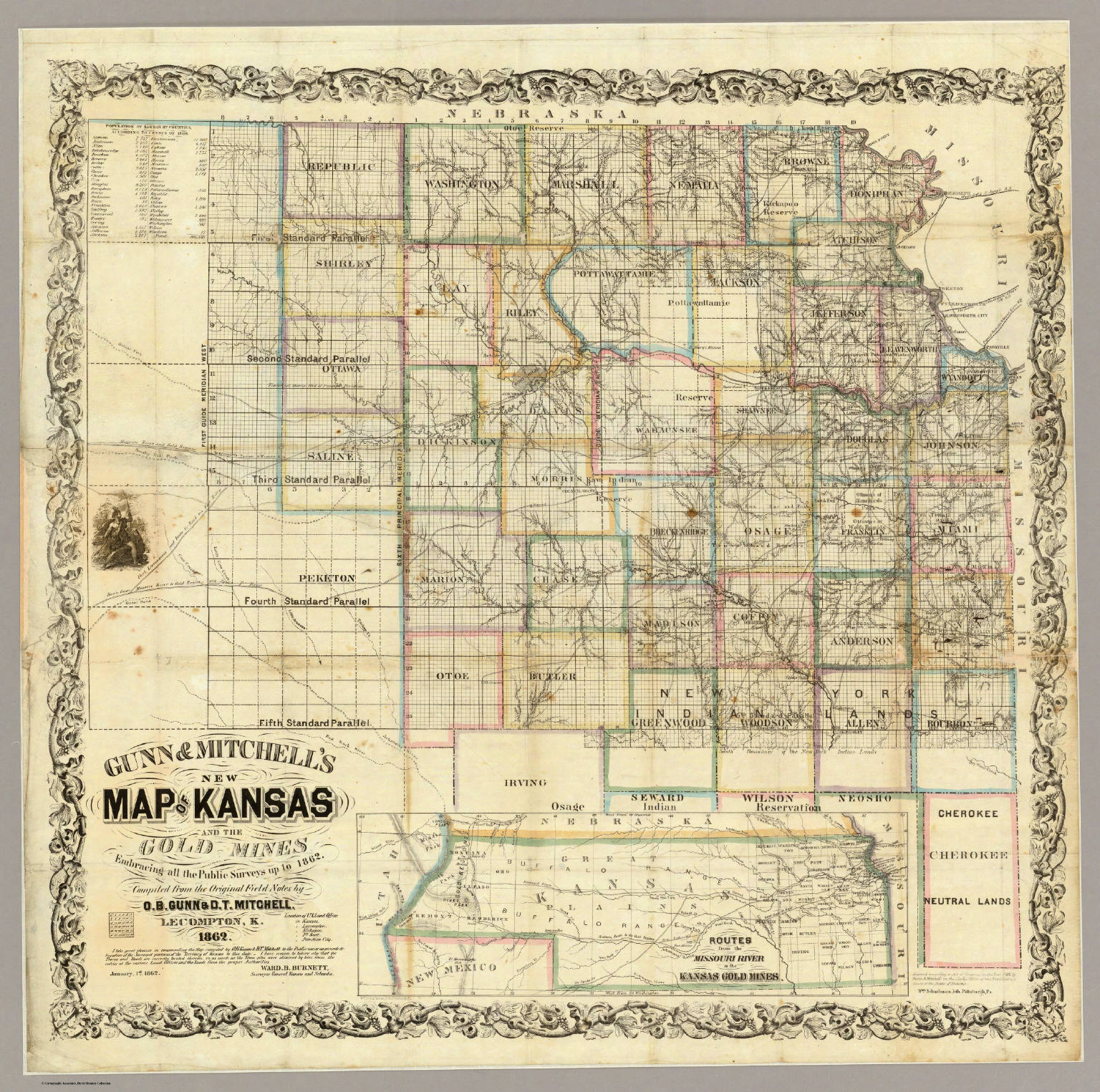 Kansas and the gold mines david rumsey historical map collection kansas and the gold mines publicscrutiny Choice Image