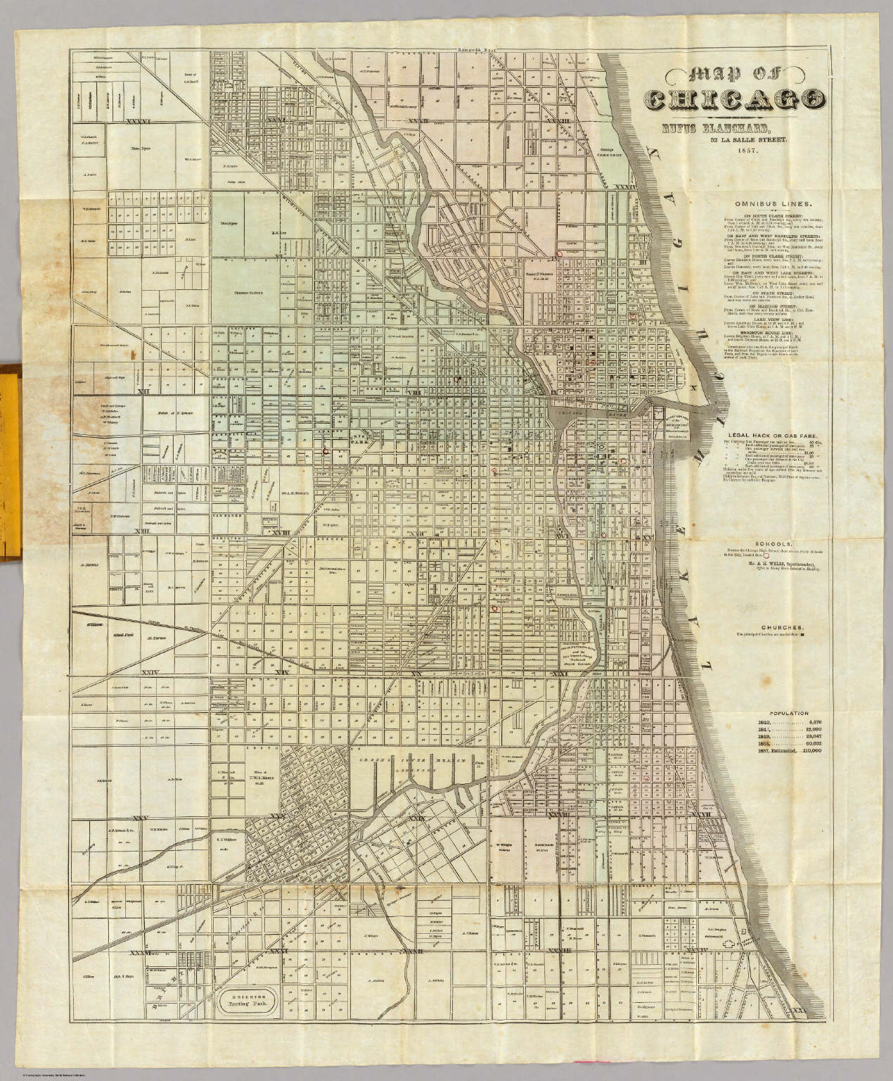Map Of Chicago David Rumsey Historical Map Collection