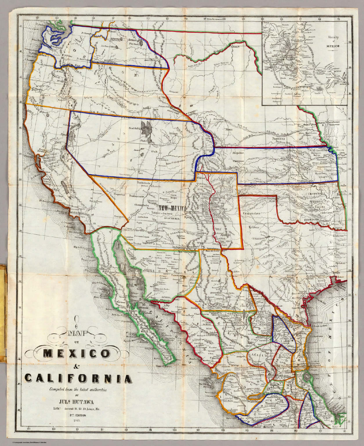 Map Of Mexico California David Rumsey Historical Map Collection