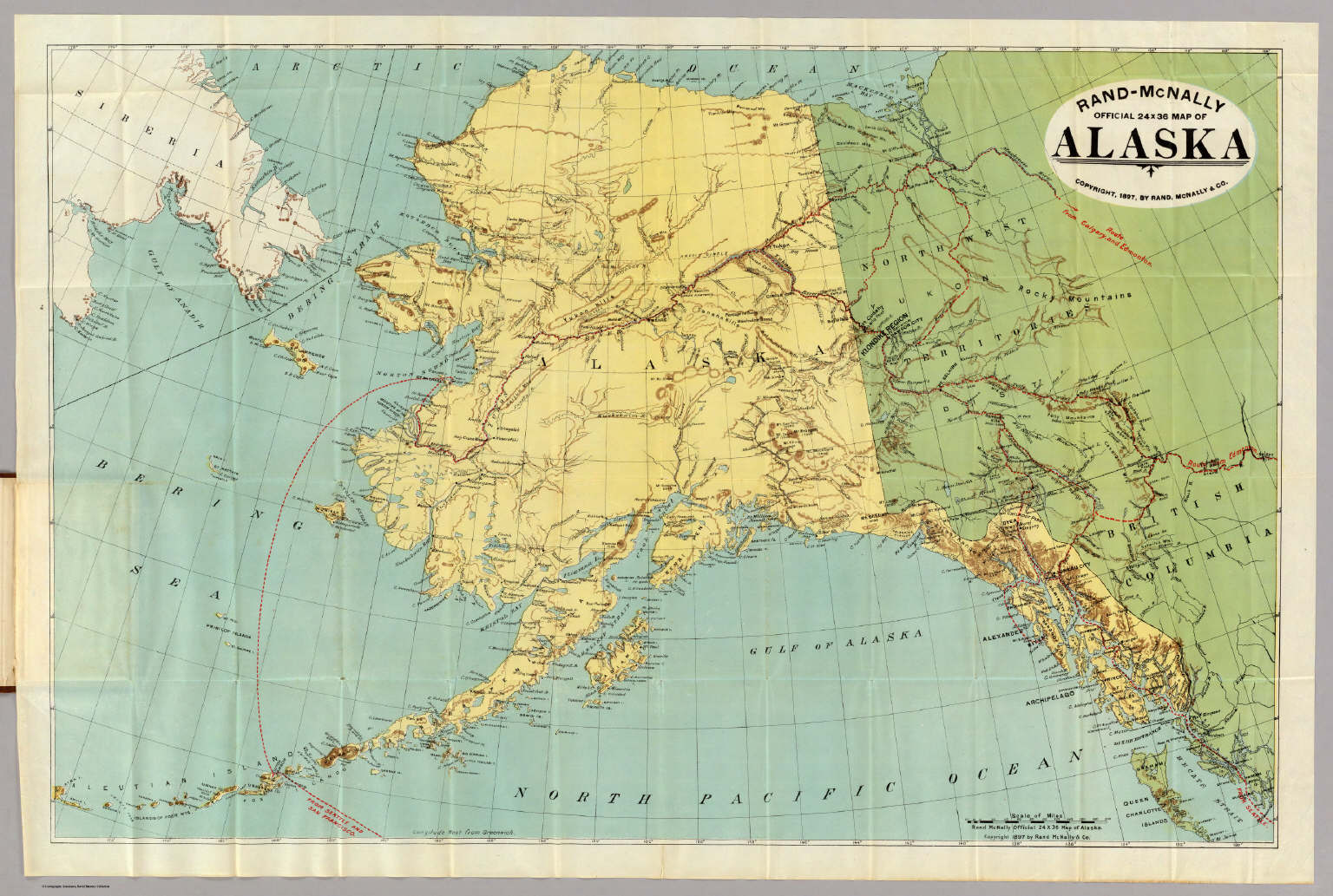 RandMcNally Official X Map Of Alaska Rand McNally And - Rand mcnally online maps