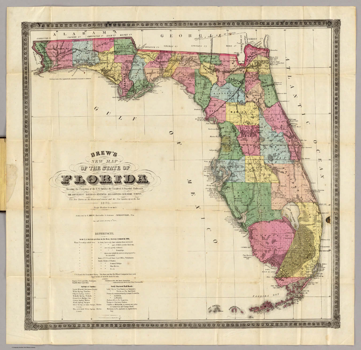 Drew\'s New Map Of The State Of Florida. - David Rumsey Historical ...