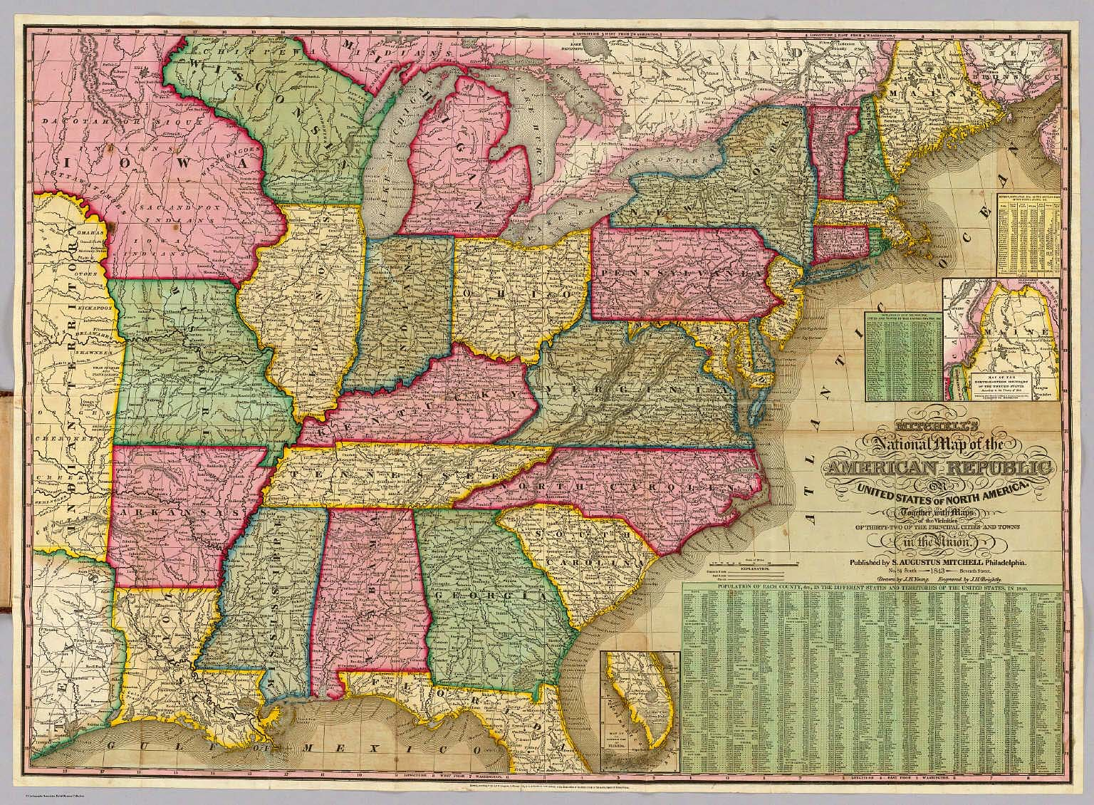 Mitchells National Map of the American Republic David Rumsey