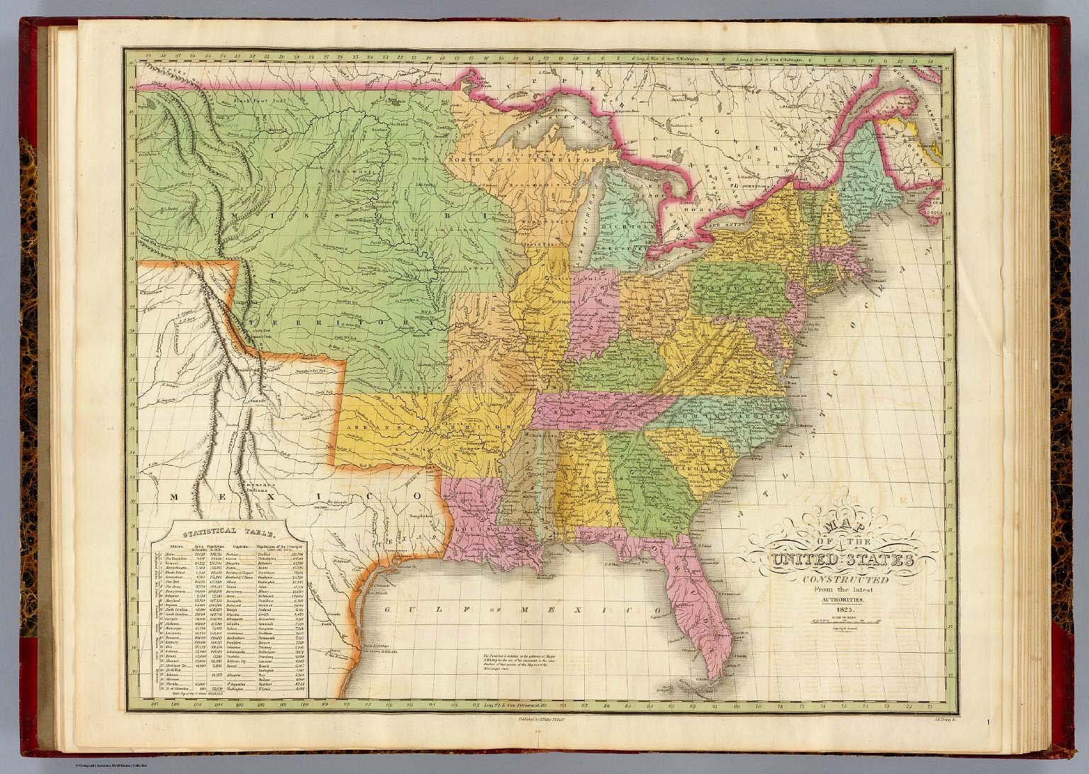 Map of the United States. / Finley, Anthony / 1826