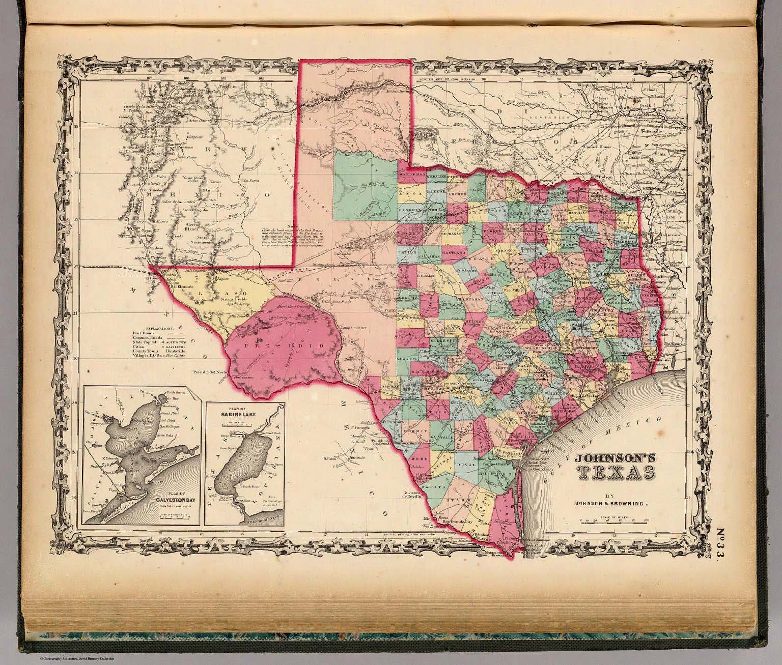 Full Map Of Texas.Texas David Rumsey Historical Map Collection