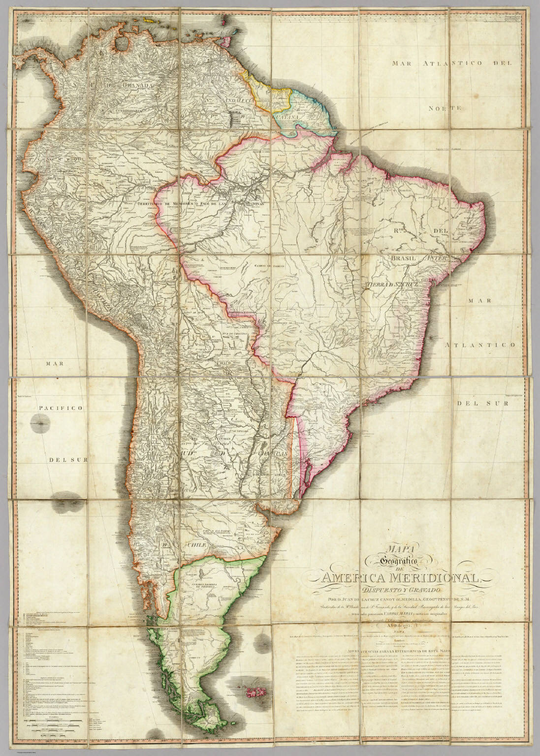 Mapa Geografico De America Meridional David Rumsey Historical Map Collection