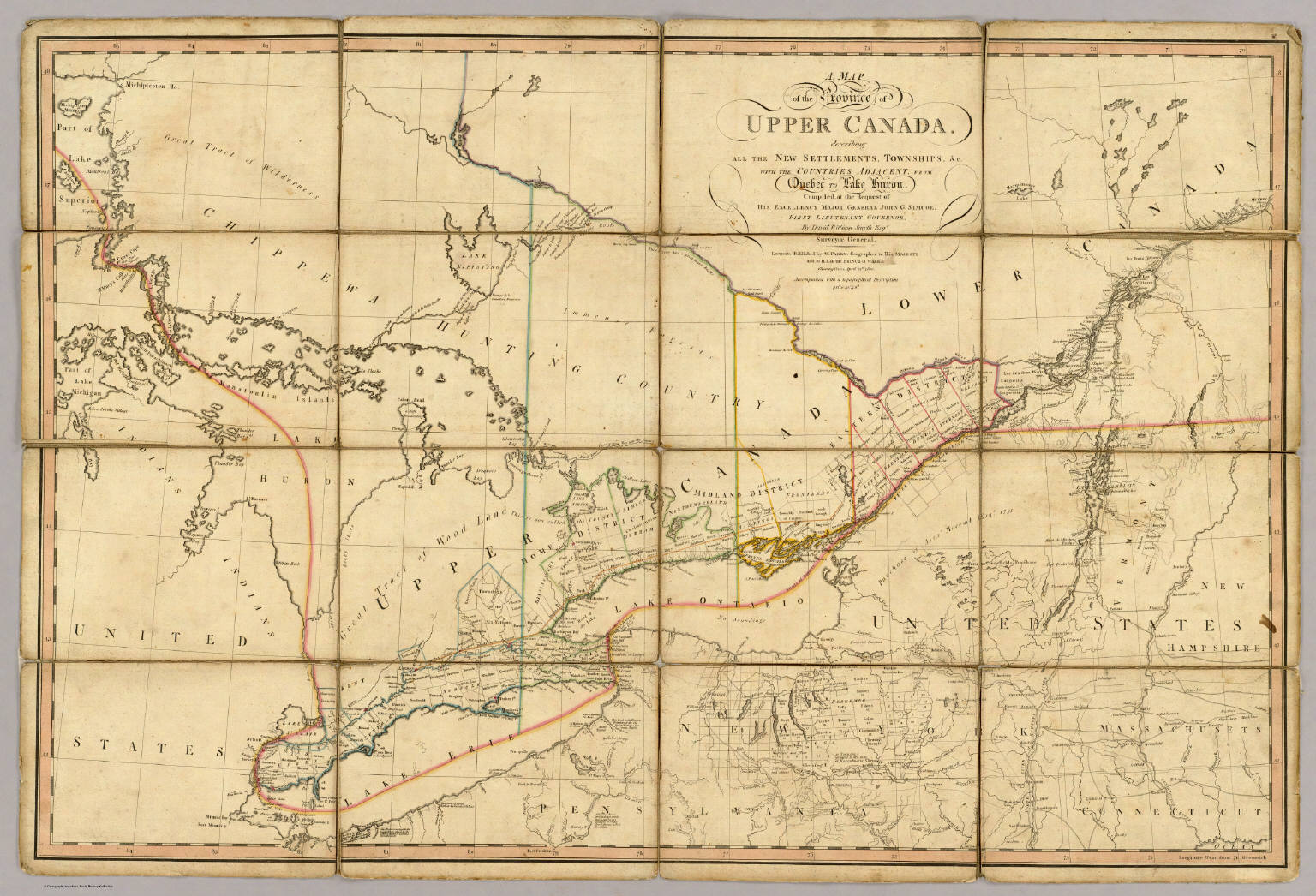 A map of the province of upper canada david rumsey historical a map of the province of upper canada sciox Gallery