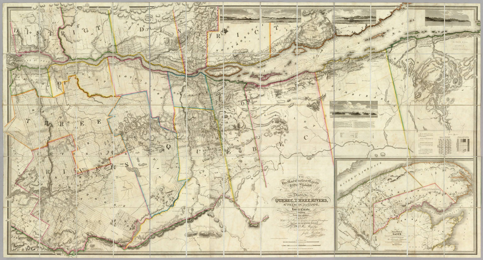 This topographical map of the Districts of Quebec, Three ...