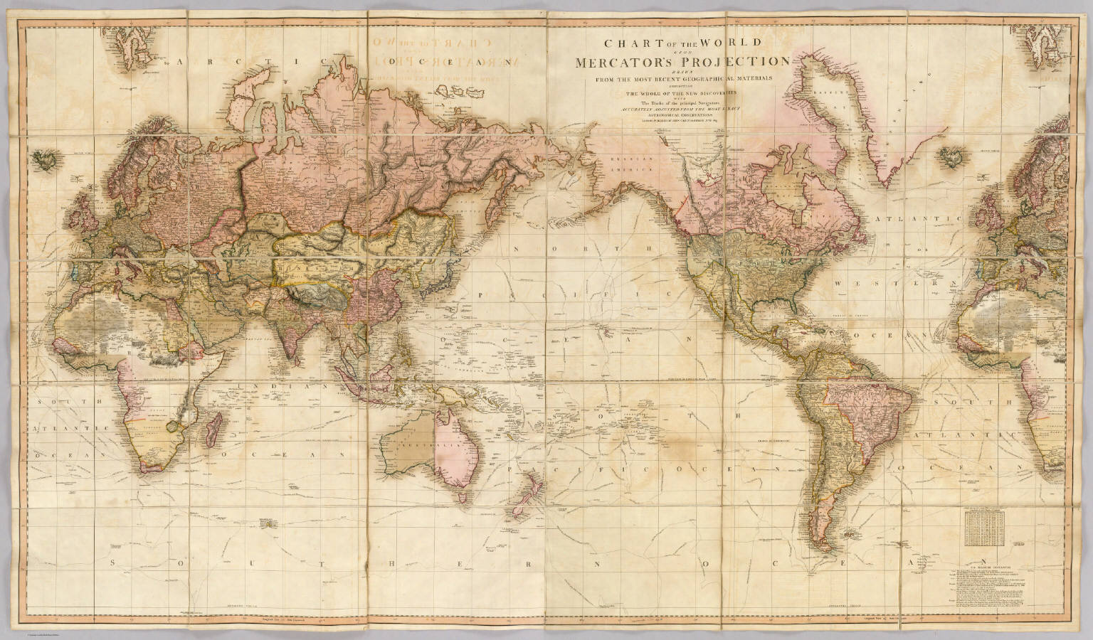 Chart of the world upon mercators projection david rumsey chart of the world upon mercators projection gumiabroncs Image collections