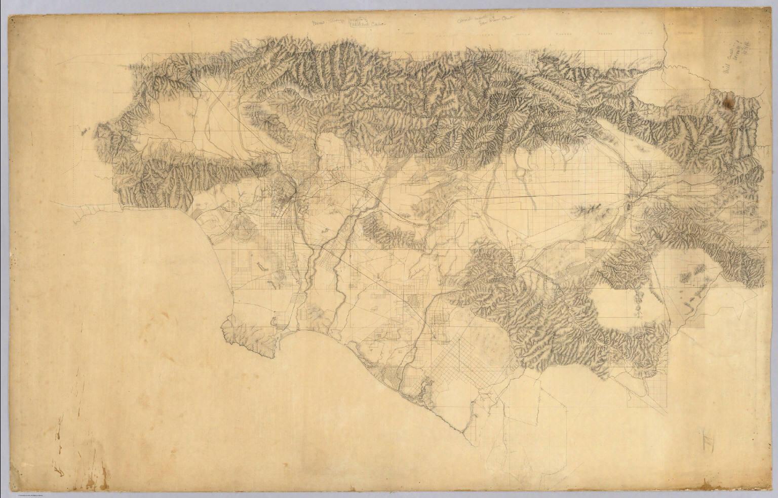 Los Angeles San Bernardino Topography David Rumsey Historical