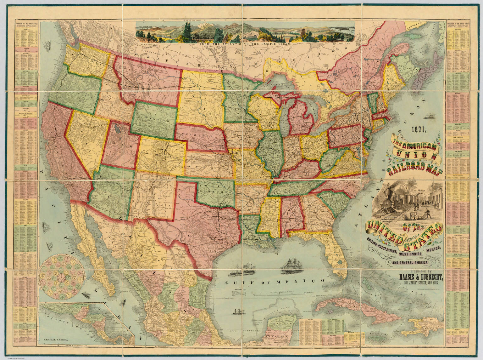 American Union Railroad Map Of The United States. - David Rumsey ...
