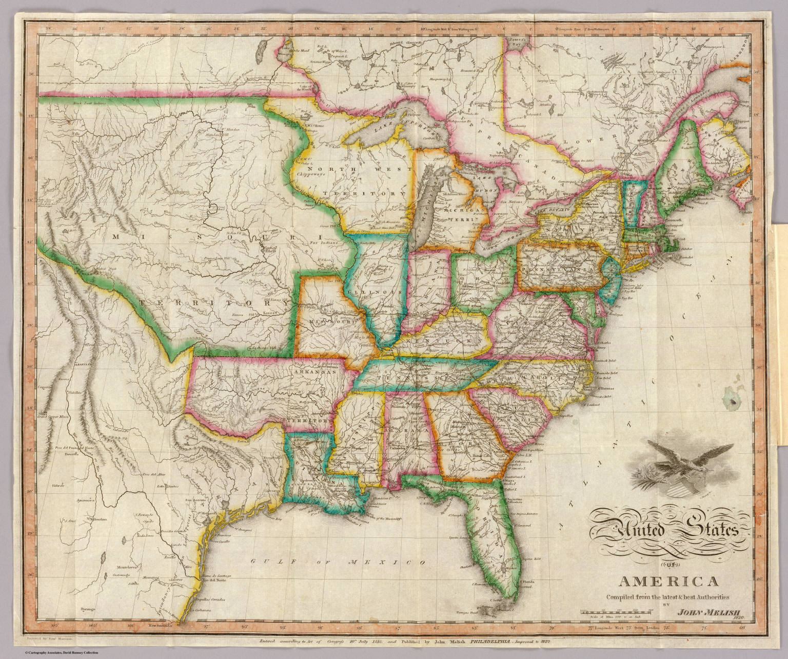 United States Of America David Rumsey Historical Map Collection - Philadelphia on us map