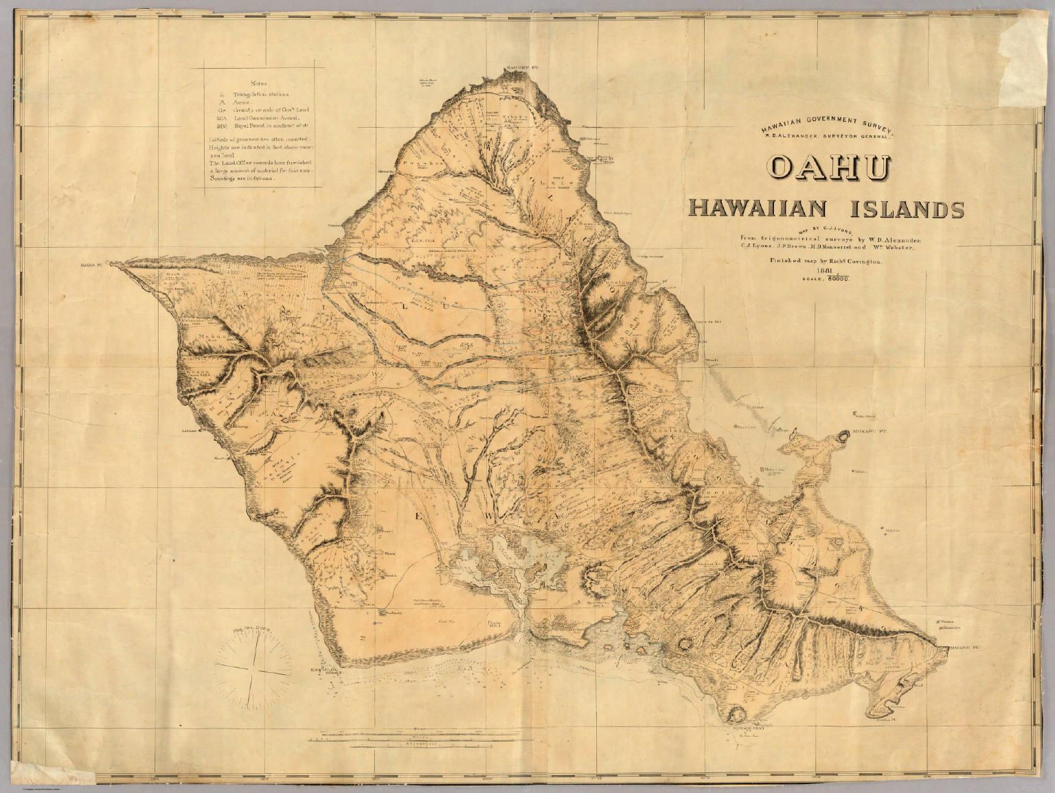 Oahu Hawaiian Islands David Rumsey Historical Map Collection