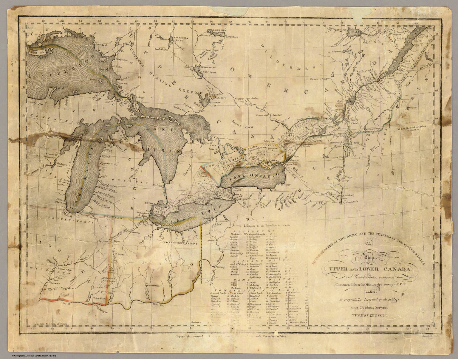Upper Lower Canada Map This map of Upper and Lower Canada and United States.   David
