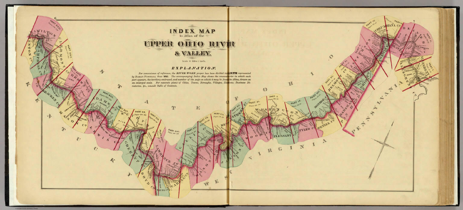 Index Map To Atlas Of The Upper Ohio River Valley David Rumsey