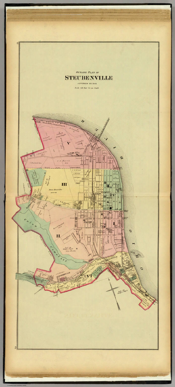 Steubenville Ohio David Rumsey Historical Map Collection