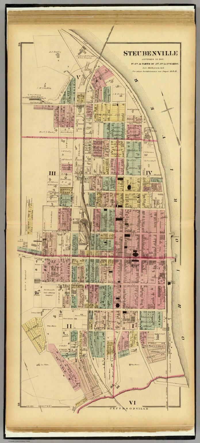Steubenville Jefferson Co Ohio David Rumsey Historical Map
